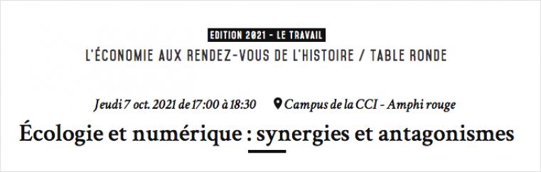 Conférence - Écologie et numérique : synergies et antagonismes
